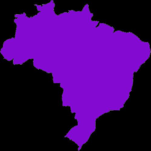 Mapa do Brasil com todos os estados em roxo
