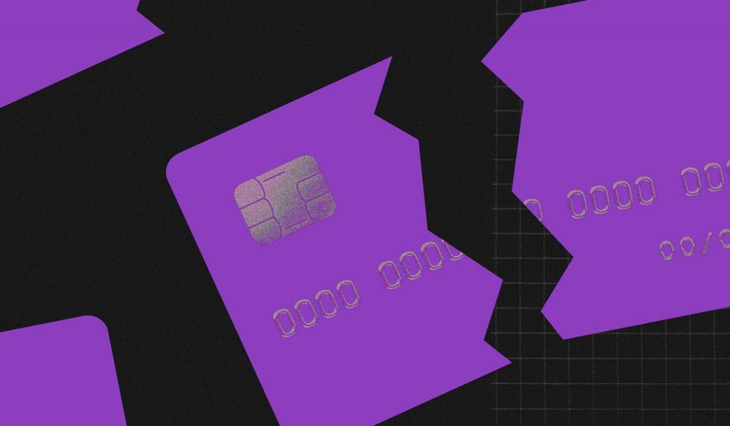 O que é score: ilustração mostra um cartão de crédito quebrado