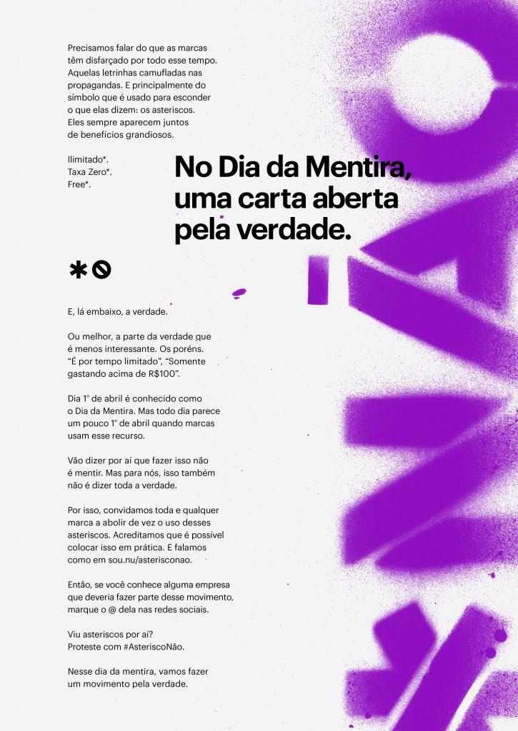 Manifesto AsteriscoNão do Nubank
