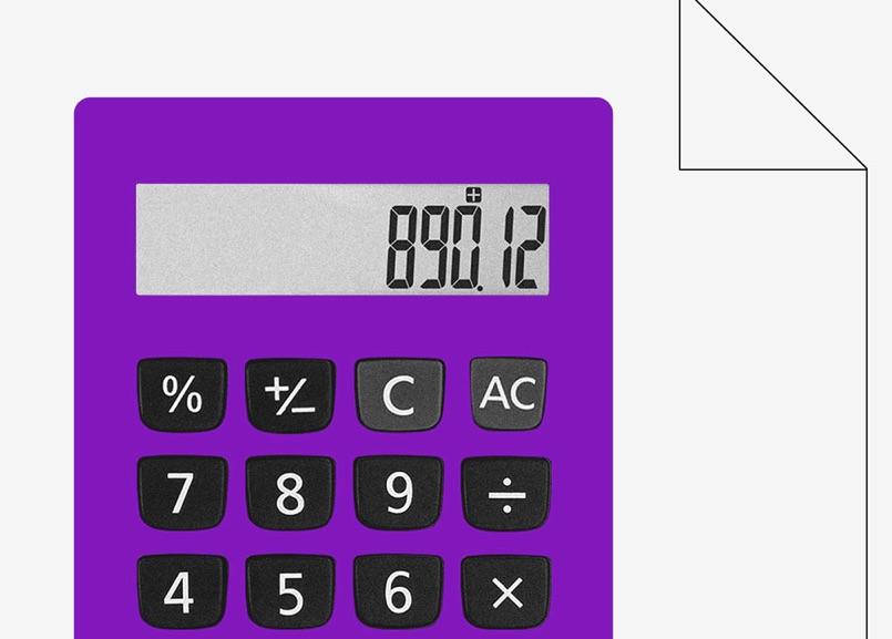 Rendimento poupança: calculadora digital roxa