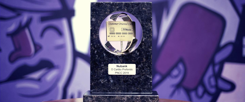 Imagem do prêmio de cartão de crédito favorito dos brasileiros, da Card Monitor.