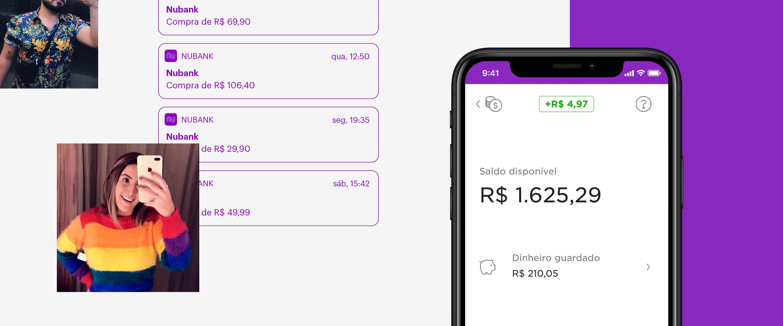 Guardar dinheiro NuConta: imagem mostra aplicativo do nubank aberto na função Guardar