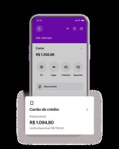App do Nubank - Fatura aberta