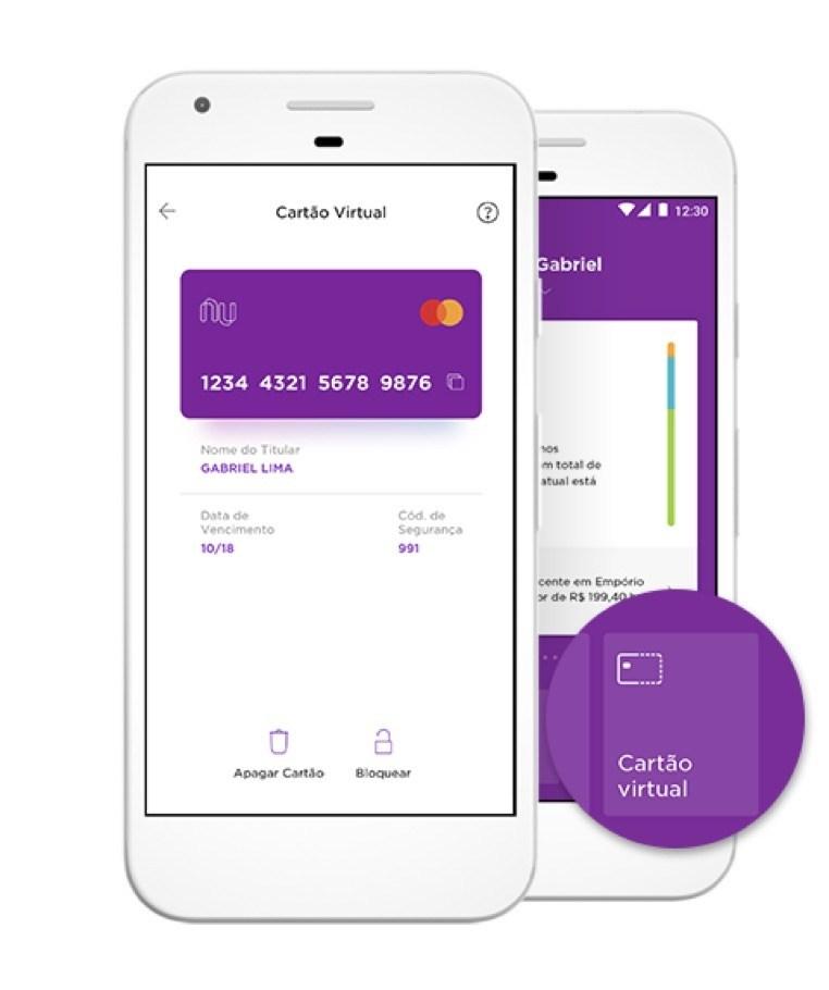 cartão virtual Nubank