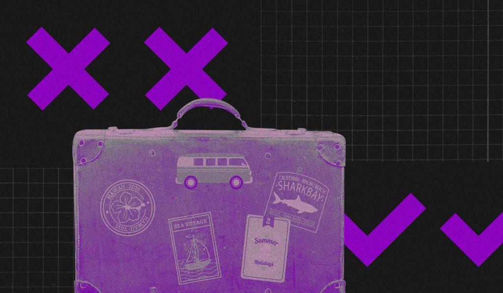 Renda extra: ilustração mostra mala de viagem