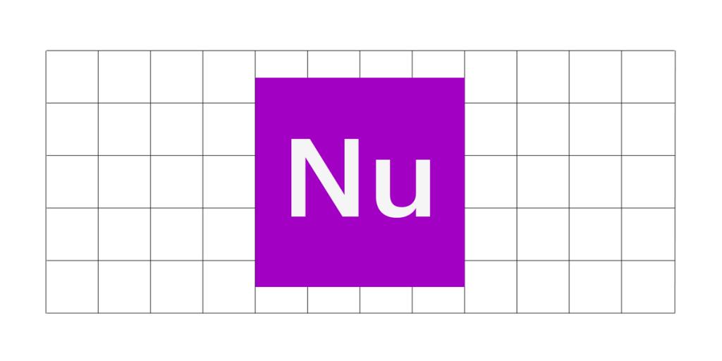 Ilustração com um quadrado roxo ao meio. Dentro, está escrito Nu.