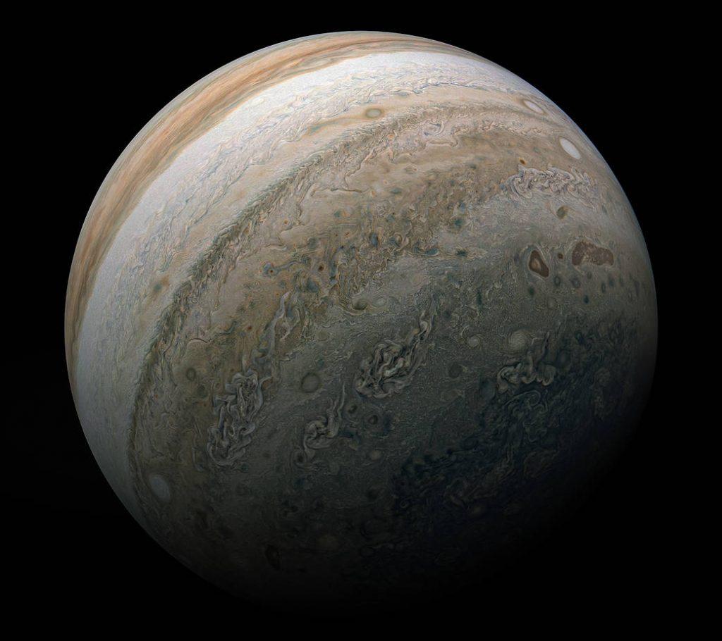 Imagem de Júpiter capturada pela Nasa.