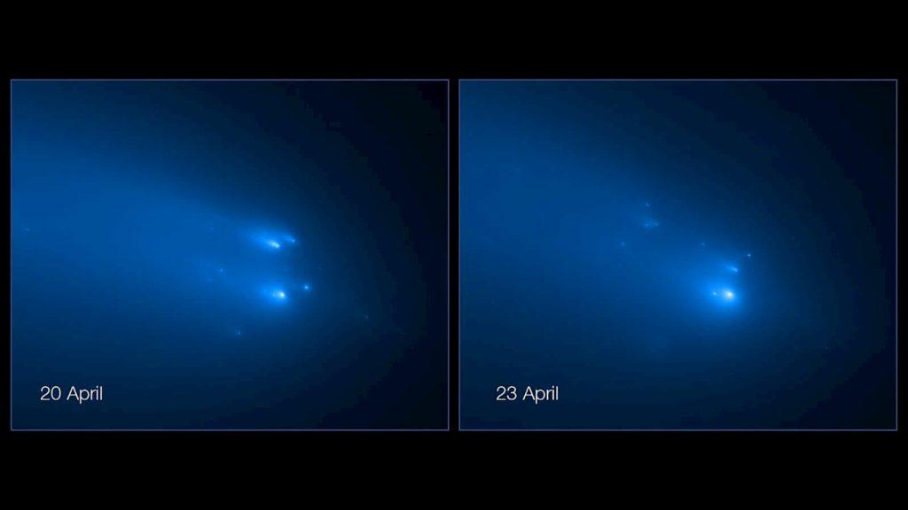 Além do coronavírus: imagem do cometa Atlas se desfazendo em pedaços
