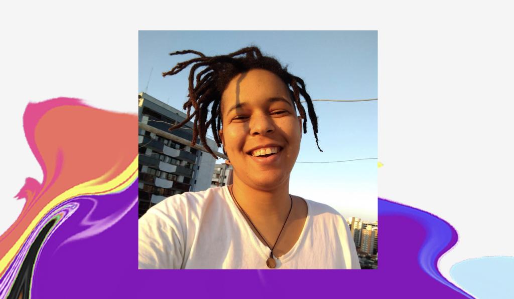 Dia do Orgulho LGBTQIA+: selfie de Tatiane