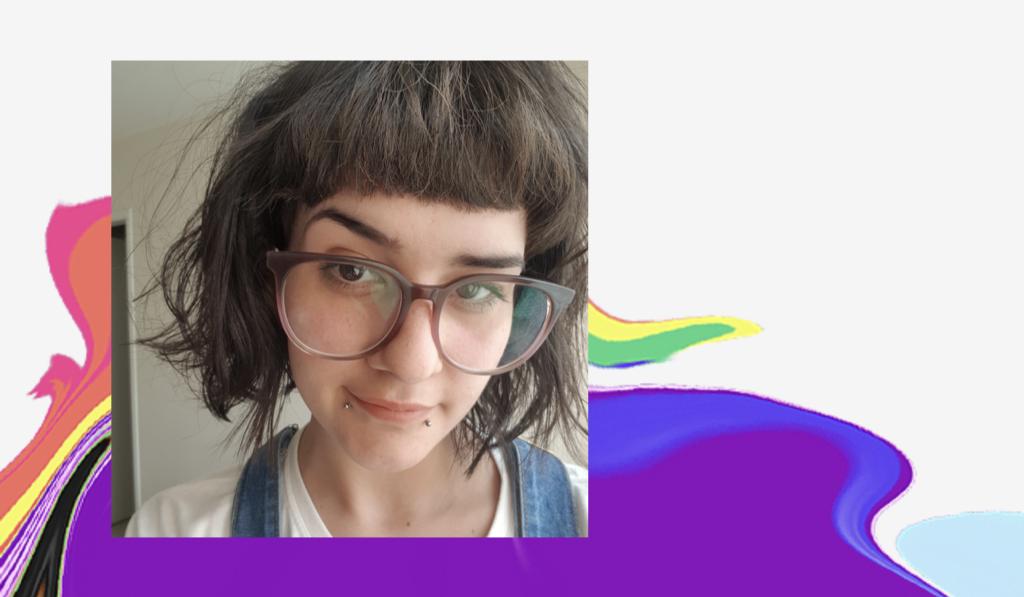 Dia do Orgulho LGBTQIA+: selfie de Gabriela