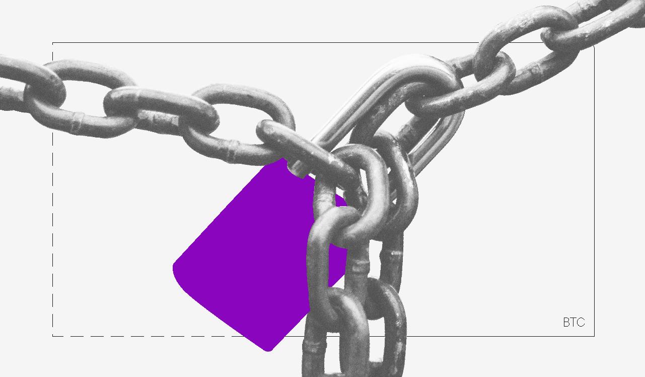 Como vender pela internet:  imagem de um cadeado roxo preso por uma corrente
