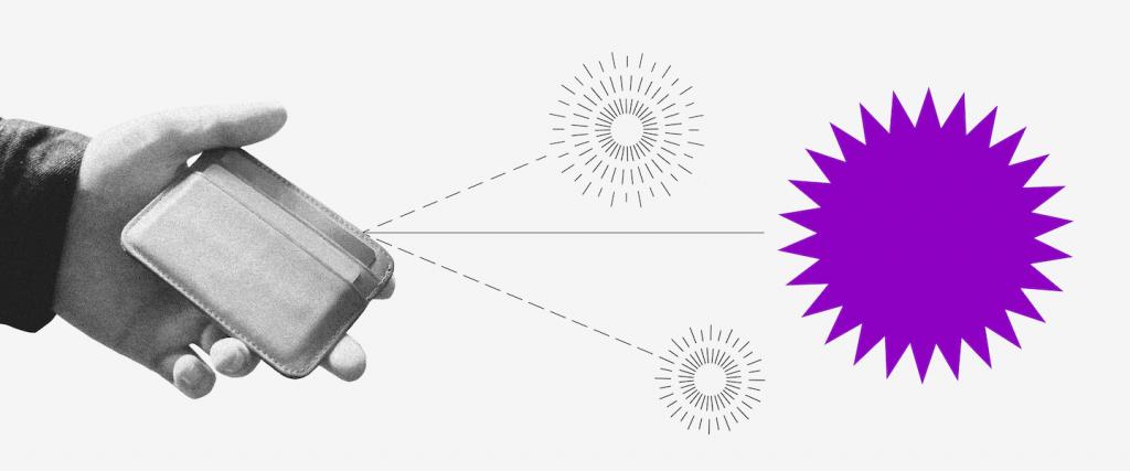 Pix Copia e Cola: ilustração de uma mão segurando uma carteira