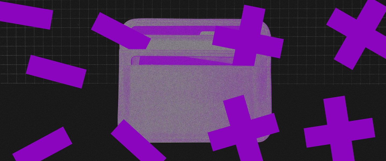 imagem de uma carteira com fitas em X e tira normal